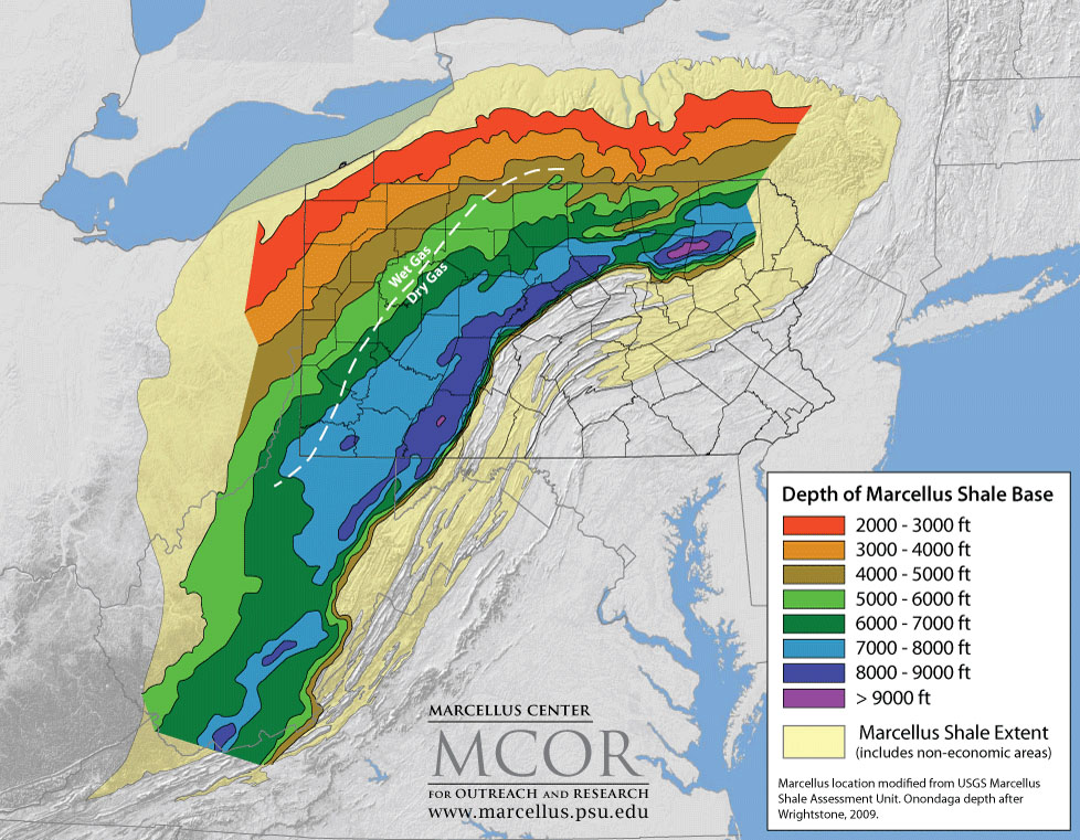 Marcellus Shale Map An Investors Introduction To The Marcellus - Marcellus shale map