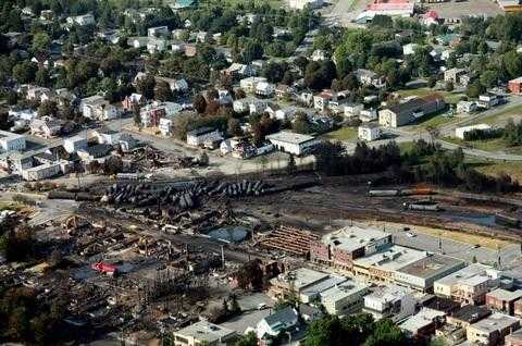 Lac Megantic disaster photo