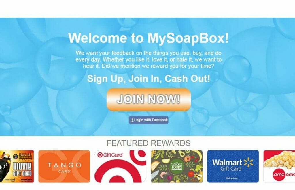 MySoapBox review survey site